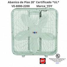 """Abanico de Piso 20"""" YOY CERTIFICADO *UL* VE8000 -2200│www.rt.cr"""