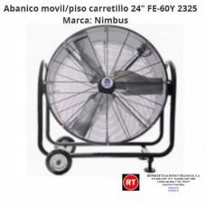 """Abanico Movil de Piso carretillo 24"""" FE-60Y-2325│www.rt.cr"""