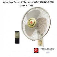 Abanico Pared C/Remoto TMT WF-1516RC -2218│www.rt.cr