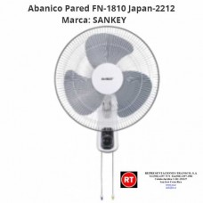 Abanico Pared Sankey FN-1810 Japan-2212│www.rt.cr