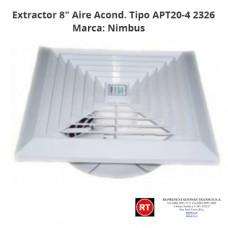 "Extractor Nimbus Tipo APT20-4 Aire Acondicionado 8"" -2326│www.rt.cr"