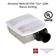Extractor Baño 50 CFM AirKing *UL* -2250│www.rt.cr