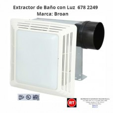 Extractor de Baño  con Luz Broan 678 -2249│www.rt.cr