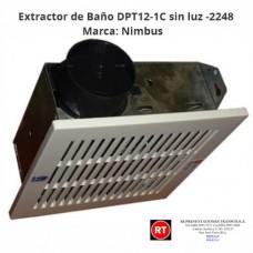 Extractor de Baño  Nimbus DPT12-1C sin luz -2248│www.rt.cr