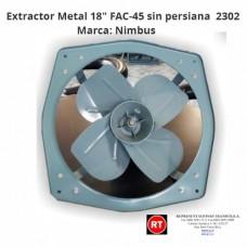 "Extractor Metal 18"" Nimbus FAC-45 sin persiana -2302│www.rt.cr"