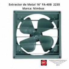 "Extractor de Metal 16"" Nimbus FA-40B -2235│www.rt.cr"