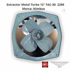 """Extractor Nimbus FAC-30 Turbo Metal 12""""-2298│www.rt.cr"""
