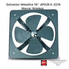 """Extractor Metalico 10"""" Nimbus APK25-5 -2219│www.rt.cr"""