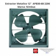 """Extractor Metalico 12"""" Nimbus APB30-6B -2206│www.rt.cr"""