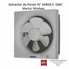 "Extractor de Pared Nimbus 10"" APB25-5 -2265│www.rt.cr"