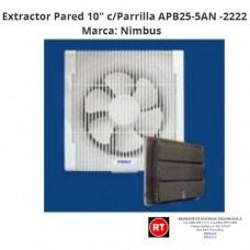 "Extractor Pared Nimbus 10"" Con Parrilla APB25-5AN -2222│www.rt.cr"