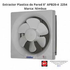 "Extractor Plastico Nimbus APB20-4 Pared 8""-2254│www.rt.cr"