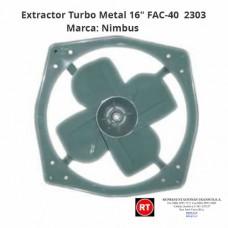"""Extractor Turbo Metal 16"""" Nimbus FAC-40 -2303│www.rt.cr"""
