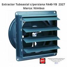 Extractor Tuboaxial Nimbus con persiana FA40-YB -2327│www.rt.cr