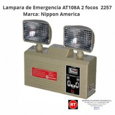 Lampara de Emergencia Nippon America AT108A 2 focos -2257│www.rt.cr