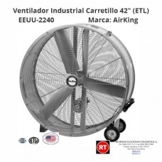 "Ventilador Industrial AirKing Carretillo 42"" (ETL) EEUU-2240│www.rt.cr"